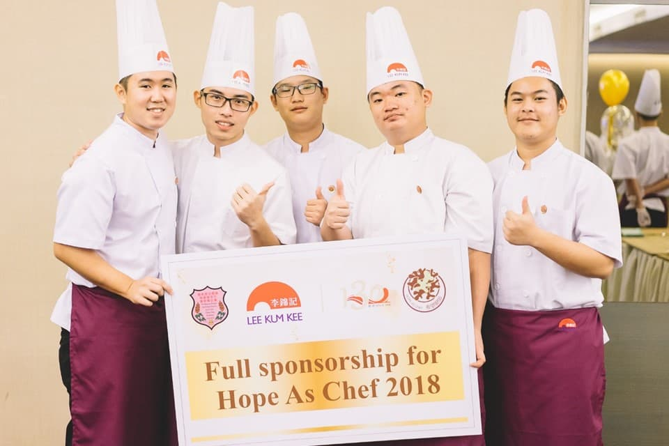 "13 outstanding students of KUSU Chef Training Programme will be granted scholarships from Lee Kum Kee's ""Hope as Chef"" programme for their eight-month culinary training."