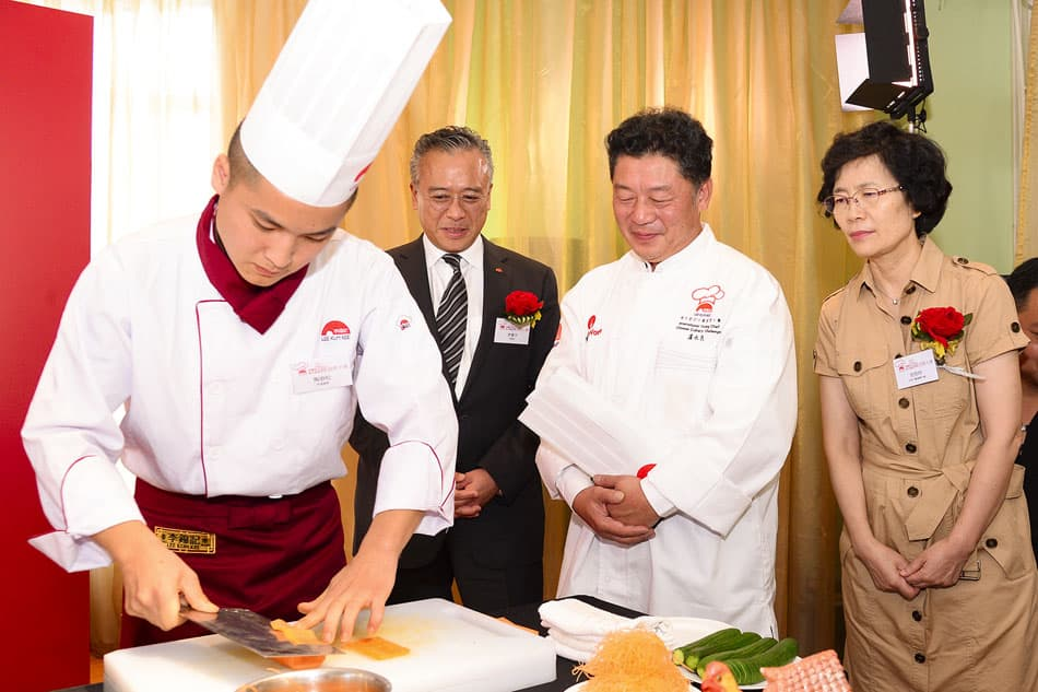 "Students from Lee Kum Kee's ""Hope as Chef"" CSR programme in China served up a smile with their outstanding culinary finesse when it came to food crafting and cold-dish plating."